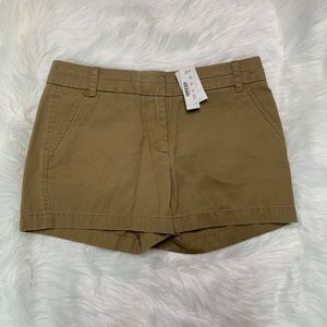 Tan chino shorts by J. Crew